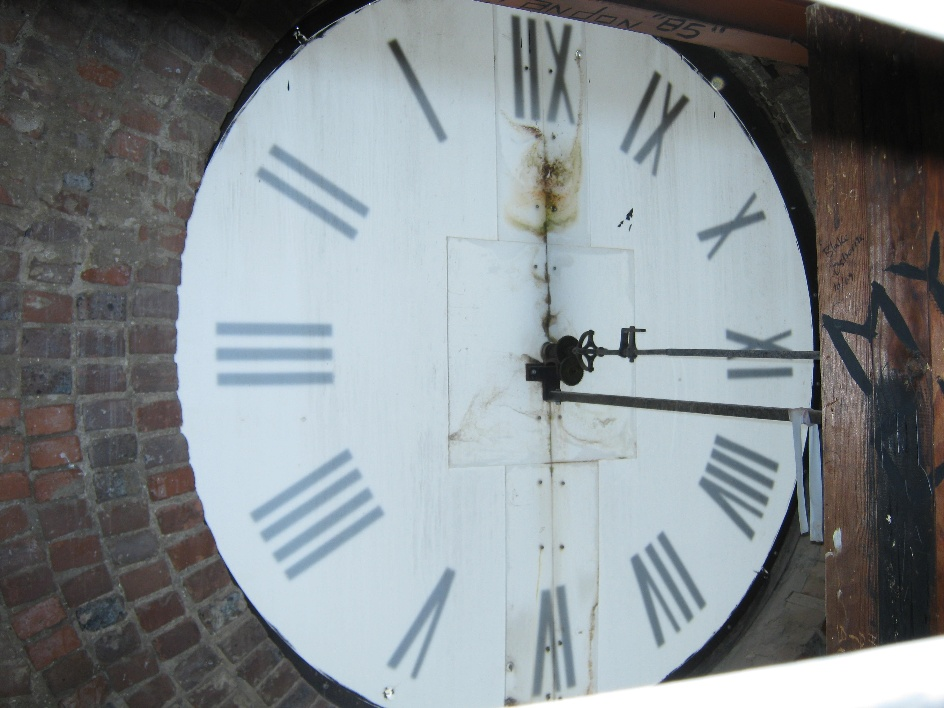backside of clock, 2010
