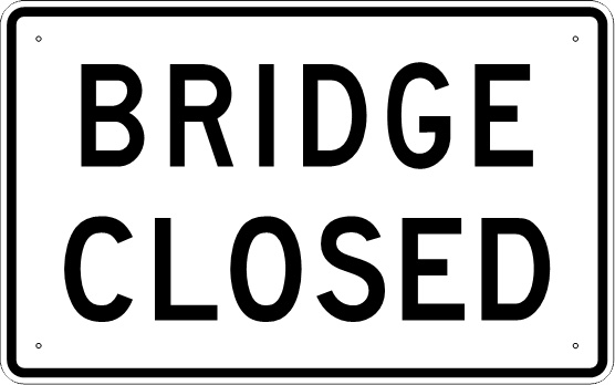 WOOLSEY BRIDGE CLOSED